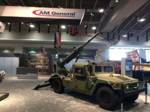 Hawkeye 105mm HMMWV at AUSA Side View