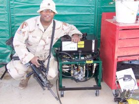 Soldier with Oil Transfer System