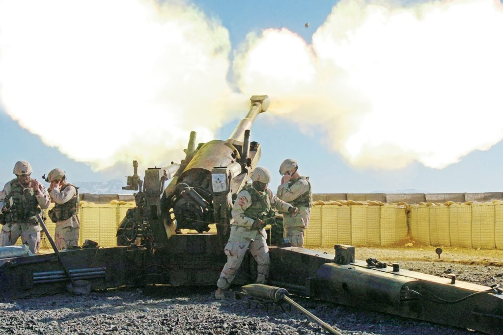 M198 Firing in Afghanistan