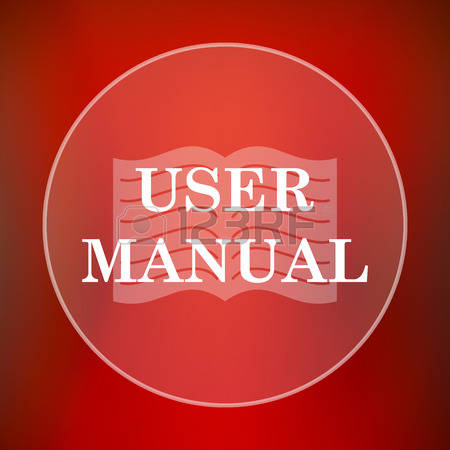 User Manual button/pic Red background-white lettering