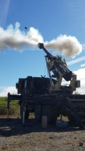 Brutus 155mm firing projectile